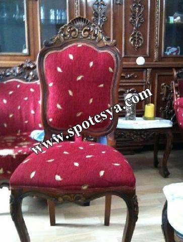 El oyması koltuk takımı antika ürün