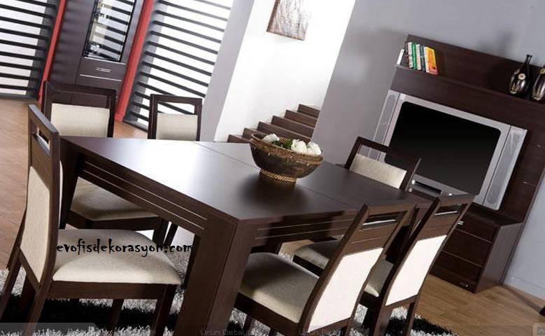 Bellona'dan Nova yemek masası + 6 sandalye satılıktır