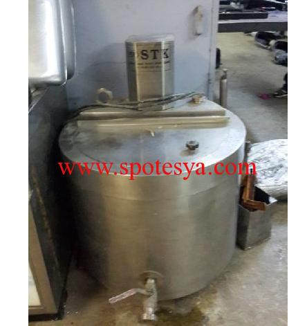 120 litrelik süt kaynatma kazanı