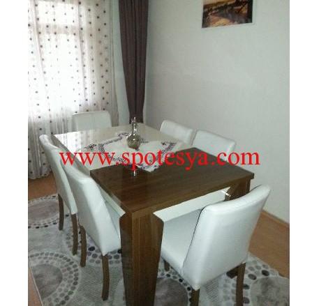 6 kişilik ikinci el masa sandalye