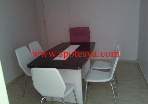 6 kişilik mini toplantı masa ve sandalyeleri