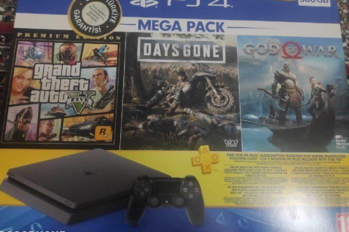 ikinci el sony playstation 4 slim 500 gb oyun konsolu
